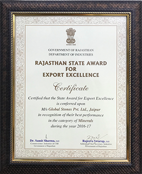 Rajasthan State Award for Export Excellence 2016-17