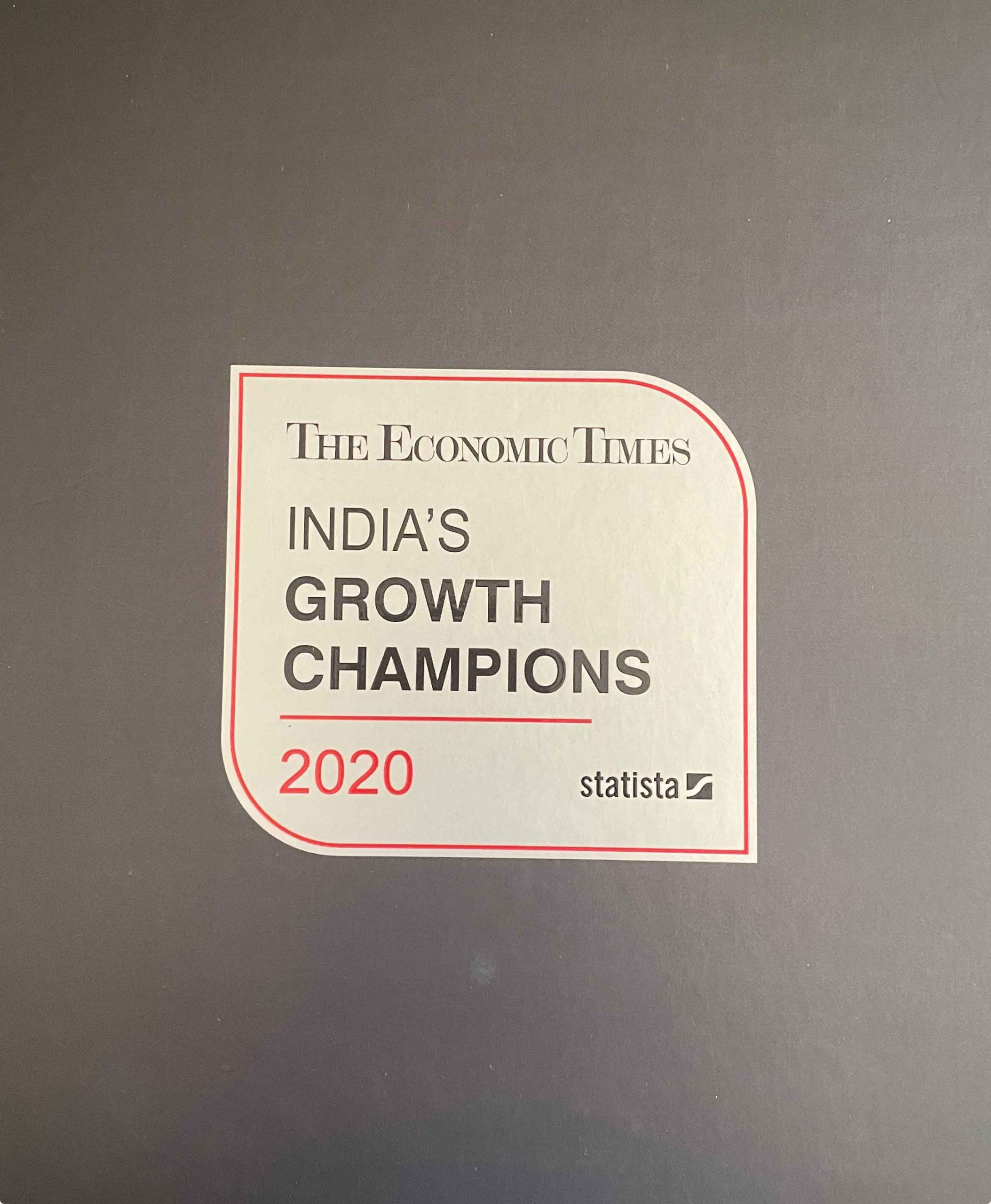 The Economic Times- India's Growth Champions-2020